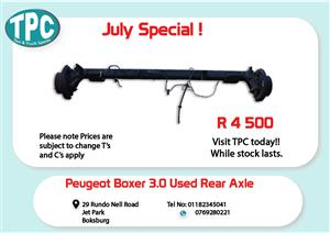 Peugeot Boxer 3.0 Rear Axle for Sale at TPC