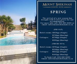 Mount Shekinah Country Hotel New Rates