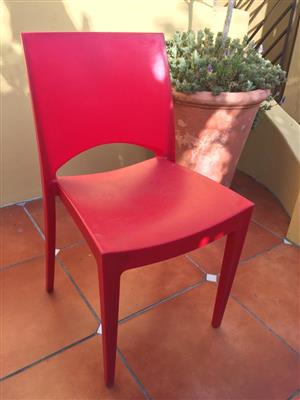 Set of 4 modern plastic all purpose chairs