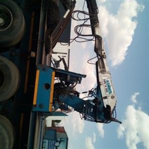 crane hydraulic system installation