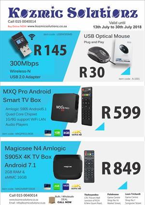 Androird TV Box 2gb/16GB , 1Gb/8GB