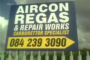 Air-con regas on all Automotives