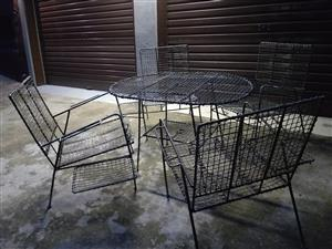 wire garden furniture