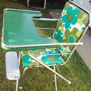 Sixties/Seventies Retro style unique baby high chair