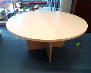 Conference table with cross legs