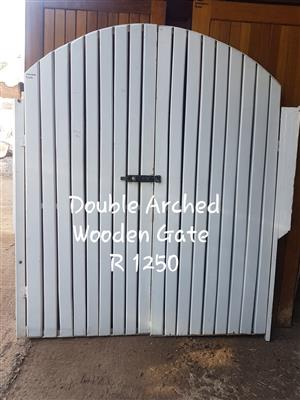 Double Arched Wooden Gate