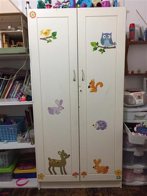 2 Door white closet for sale