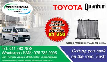 Toyota Quantum Diesel and Petrol Radiators For Sale.