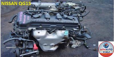 IMPORTED USED NISSAN QG15 AUTOMATIC ENGINE FOR SALE AT MYM AUTOWORLD