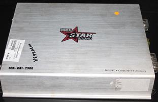 S035663A Digital star sound 2300 watts car amp #Rosettenvillepawnshop