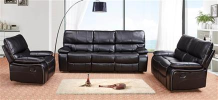 PERILLI 6 Piece, 5 Recliner Suite In Air-Leather. Model 8008.