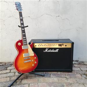 SALE or TRADE: Classic Stratocaster or Les Paul Electric Guitar & Marshall Amp Combo