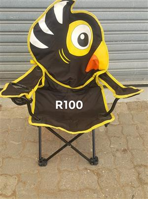 Black and yellow kiddies camping chair