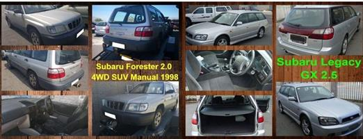 Subaru Forester and Legacy spares for sale.