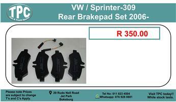 Vw / Sprinter -309 Rear Brakepad Set 2006- For Sale.