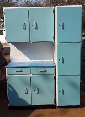 Vintage light blue kitchen unit