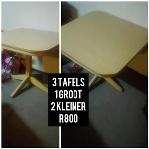 3 Light wooden tables for sale
