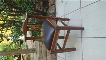 Beautiful old kiaat office chair.