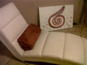 Beautiful White Long Chair