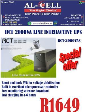 RCT 2000VAS Line Interactive UPS
