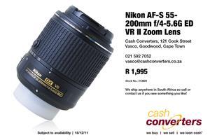 Nikon AF-S 55-200mm f/4-5.6G ED VR II Zoom Lens