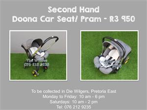 Second Hand Doona Car Seat/Pram - Grey