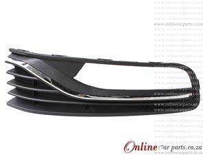 VW Polo MK III Hatchback Right Hand Side Front Bumper Grille With Fog Light Fog Lamp Holes 2014-