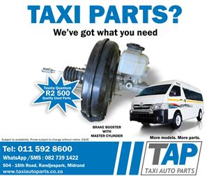 Brake Booster with master cylinder for your Toyota Quantum taxi - Quality used spares - Taxi Auto Parts - TAP