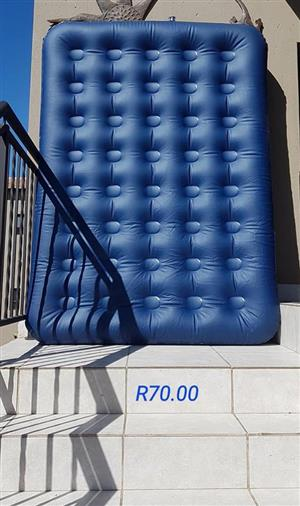 Blue inflatable mattress for sale