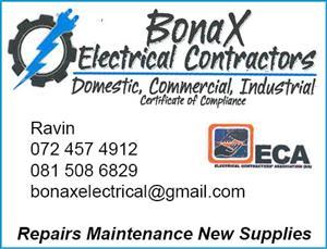 BONAX ELECTRICAL CONTRACTOR