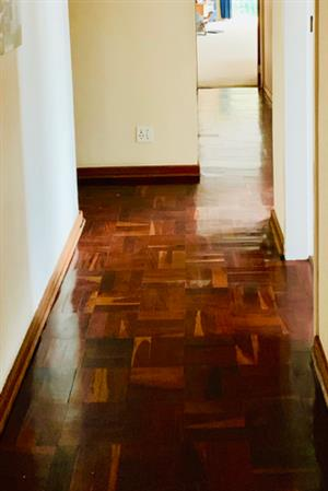 Reclaimed Solid Rhodesian Teak Parquet Floor blocks in excellent condition