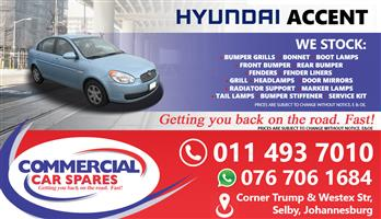 New Hyundai Accent 06- Body Parts And Spares For Sale At Car Spares