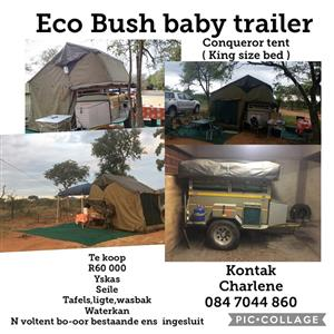 Used, Eco Bushbaby trailer with Conquerer tent (Sleeps 4 - 6) for sale  Nelspruit