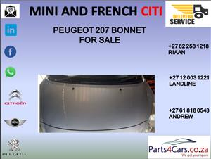peugeot 207 bonnet for sale