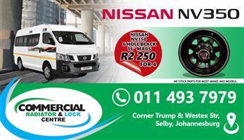 NISSAN NV350 BLACK MAG RIMS