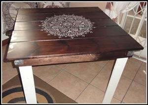 palet tafels 1  x 1 m