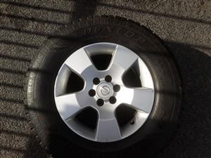 Two Nissan Navara 16 inch Mag wheel and tyres, excellent condition, tyre thread +- 60%. If you really need then prize is negotiable.