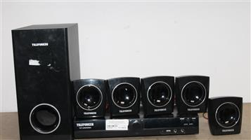 Telefunken home theatre with remote S032632A #Rosettenvillepawnshop