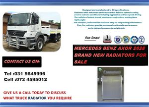 MERCEDES BENZ 2628 AXOR BRAND NEW RADIATORS FOR SALE PRICE: R10 000