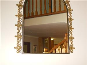 Beautiful Brass Framed Mirror in excellent condition for sale. Price R900.00