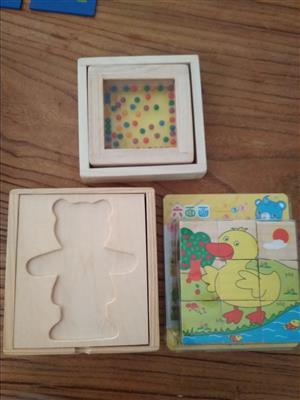 Wooden emotions puzzle plus 2 puzzles