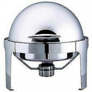 New round  Rolltop Chafting Dishes for sale.