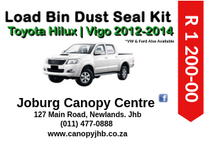 HILUX VIGO 2012 - 2014 LOAD BIN DUST SEAL KIT