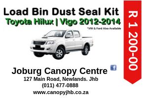 HILUX VIGO 2012 - 2014 LOAD BIN DUST SEAL KIT