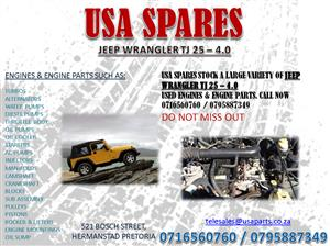 JEEP WRANGLER TJ 2.5 – 4.0 ENGINES AND ENGINE PARTS