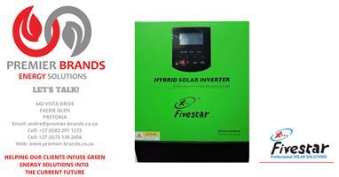 5KVA 48V FIVESTAR HYBRID INVERTER - BUILT IN 80AMP MPPT SOLAR  CHARGE CONTROLLER