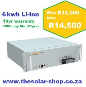 6kwh lithium ion solar batteries weeked special