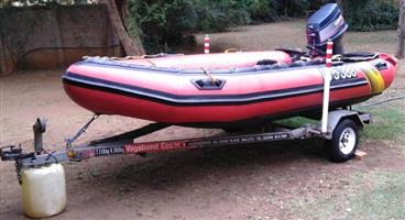 4.2M GEMINI SURF 420 - FULLY INFLATABLE (HYPALON)