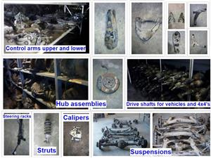Front and rear Axle for sale  Control arms upper and lower for sale  Hub assemblies for sale  Drive shafts for vehicles and 4x4 vehicles for sale  Steering racks for sale  Struts for sale  Calipers for sale  Suspensions for sale