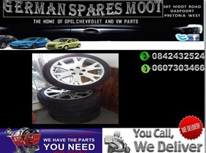 OPEL CORSA TYRES AND RIMS SET FOR SALE.